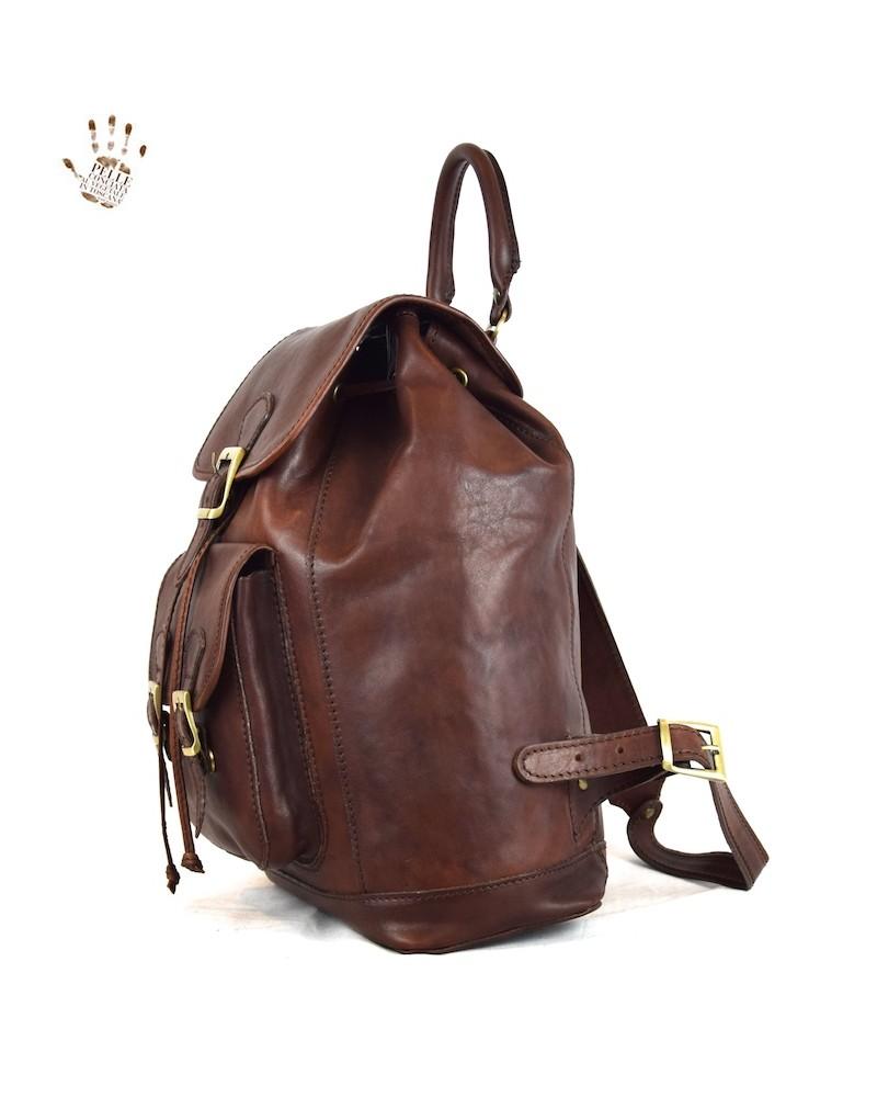 9364fa4861aa Heather   Fox - Sac à dos en cuir pour femme Toscana HF-T2102-MF